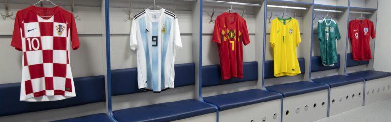 As camisas das 32 seleções da Copa  d0a887f0ca28a
